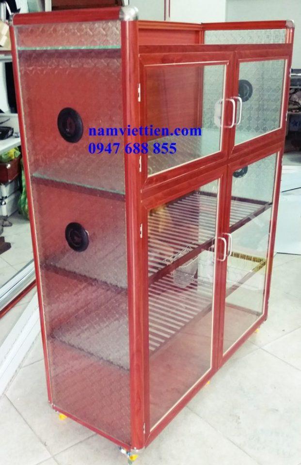 Tủ chén nhôm kính cao cấp HCM
