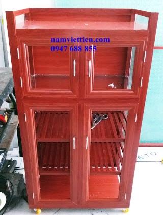 20181001 093806 1 - Mẫu tủ chén đĩa nhôm kính giá rẻ