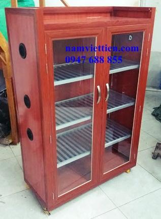 20181003 170230 1 - Mẫu tủ chén đĩa nhôm kính giá rẻ