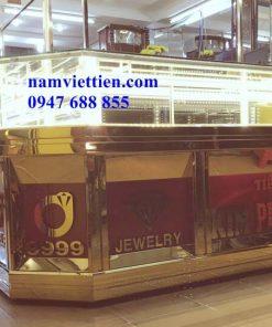 Báo giá tủ bán vàng nhôm kính