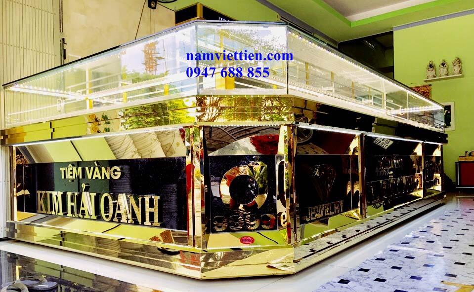 6 - Báo giá tủ bán vàng nhôm kính