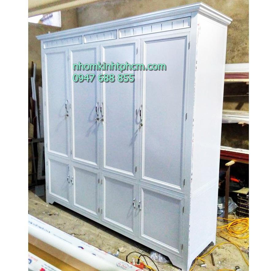 Tủ áo nhôm kính sơn tĩnh điện