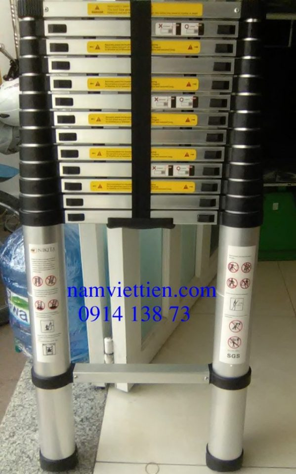 thang nhom rut don chinh hang gia re hcm - Thang nhôm rút đơn Hakawa HK-141 chính hãng giá rẻ