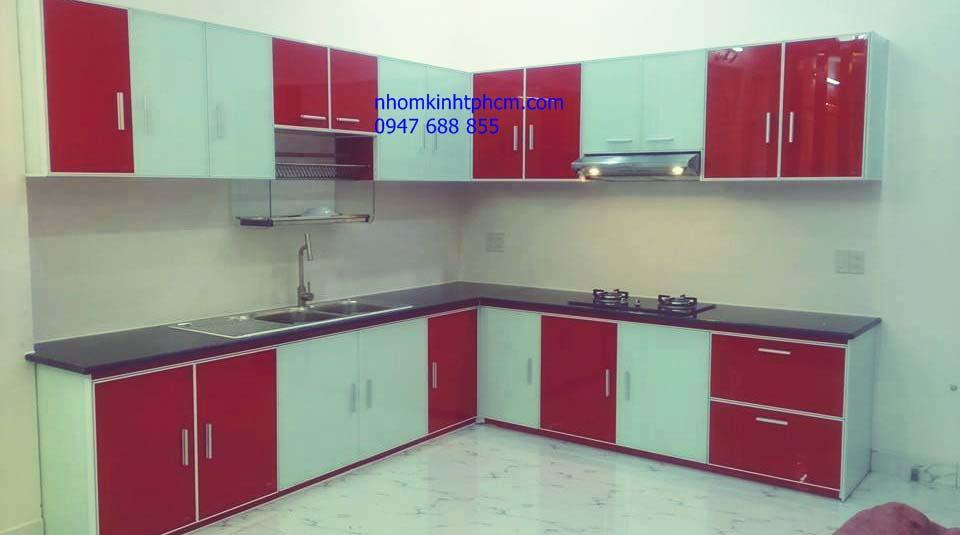 Tủ bếp nhôm kính cao cấp tphcm
