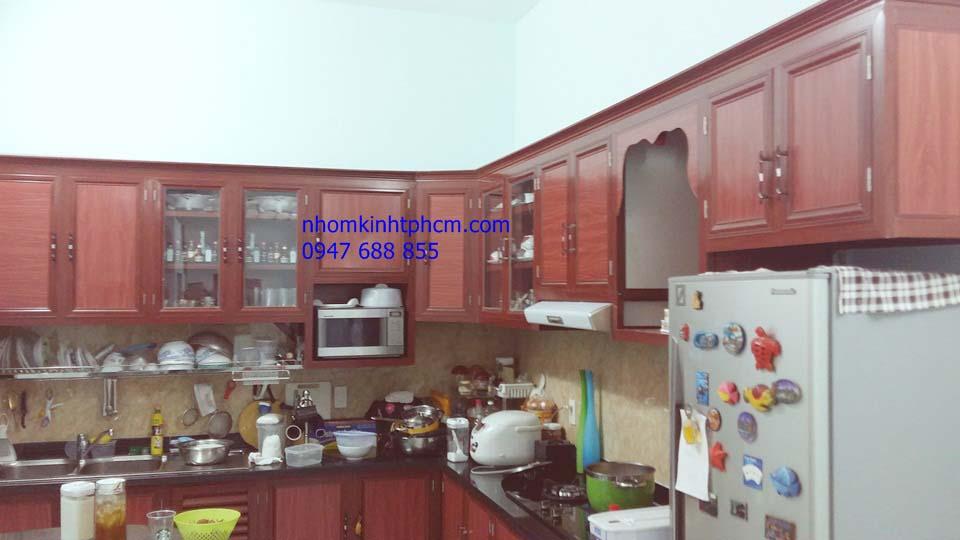 Báo giá tủ bếp nhôm kính TPHCM
