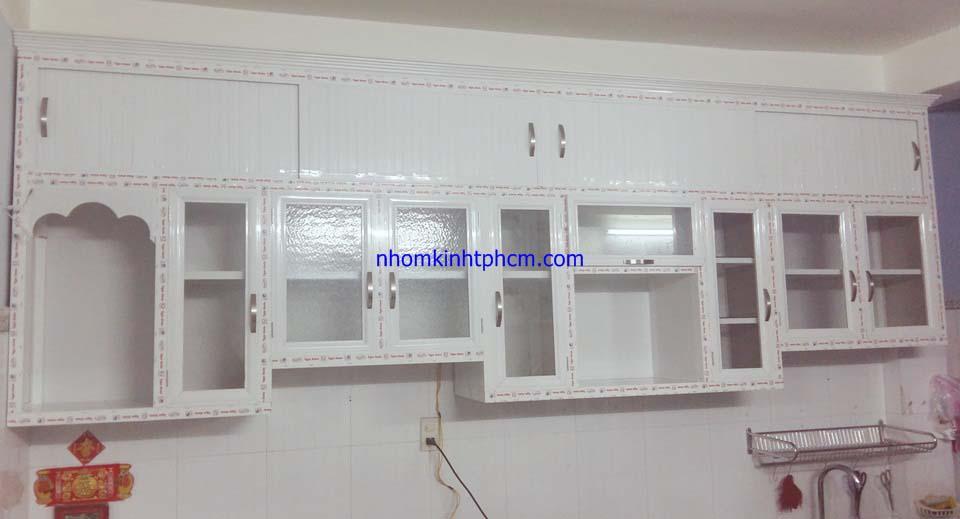 20161003 172356 - Tủ kệ bếp nhôm kính treo tường