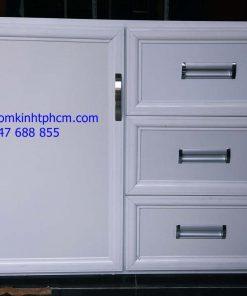 Mẫu tủ bếp nhôm kính đẹp hcm