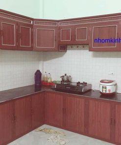 tủ bếp nhôm kính giá rẻ