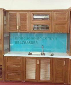 Tủ bếp nhôm kính cao cấp