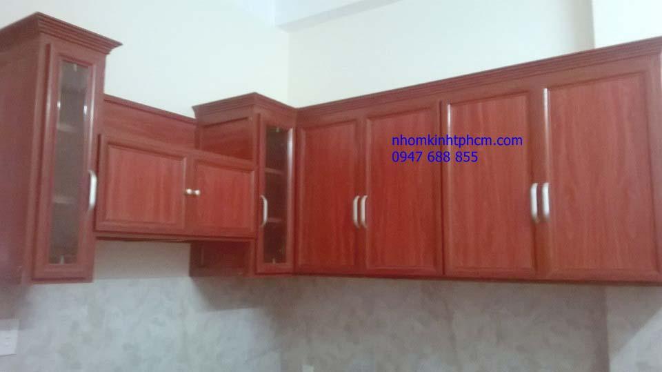 tủ bếp nhôm kính - Tủ bếp nhôm kính giá rẻ TPHCM