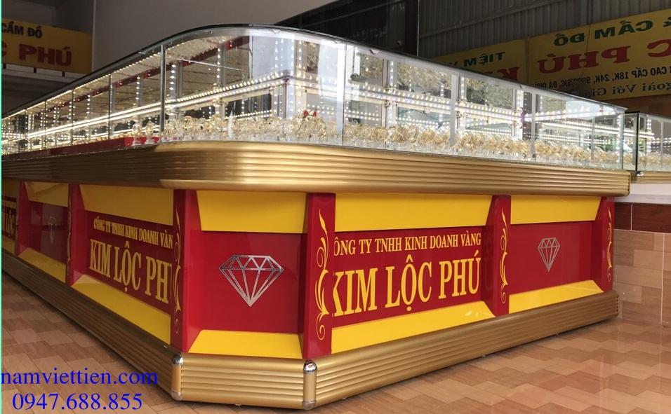 tu ban vang nhom kinh cao cap - Tủ trưng bày vàng bạc đá quý