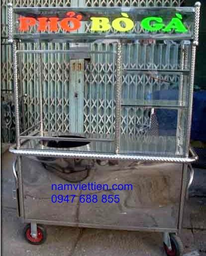 xe day ban pho hu tieu - Mẫu tủ bán phở, bán hủ tiếu đẹp giá rẻ HCM
