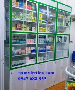 Tủ trưng bày mỹ phẩm siêu thị