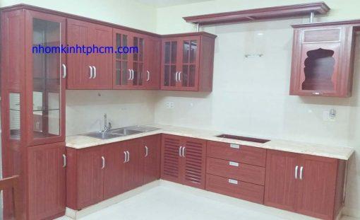 Tủ bếp nhôm kính hcm